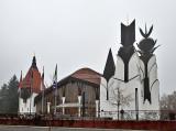 LENDVA (SLOVENIA) Theater in heavy fog