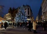 Christmas fair at Vörösmarty tér