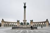 Millennium Monument (1896) in winter