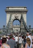 St. István's Day, procession across Chain Bridge