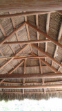 Roof and rafters of a tiki hut