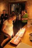 lighting 50 candles