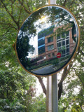 Curved Mirror's Reflection