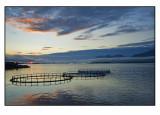 Midnight sun and salmonfarm.......