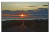 Driving into the midnight sun.......