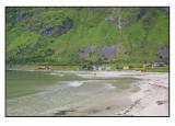 Green mountains,white sand.........