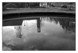 Churchtower reflected