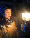 Kenny Shane's Wife  Xin  Enjoying Heat And Light From 1950 Coleman Lantern