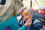 Face painting was popular with the kids
