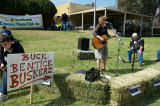 Buskers played for the crowd