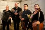 (L to R) Elizabeth Jones accordion, Justin Screen clarinet, Martin Lee violin and Rachel Whealy cello