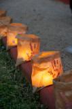 Lanterns light the way