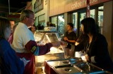 Food stall at the Saturday night Street Party