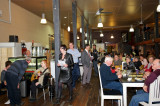 Festival launch crowd at the Mezzanine Cafe