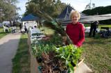 Margaret Girot with new season plants