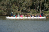 Dragon boat on the move