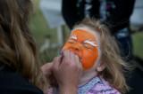 Facepainting was popular