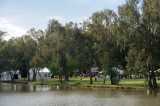 Main stage on the banks of Lake Forbes