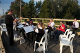Forbes City Concert Band performing on Bates Bridge