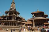Durbar Square, Krishna Mandir at left