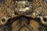 Repousse brass over a palace doorway