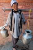 Hauling the water, Patan