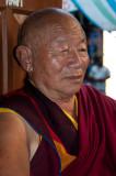 Tibetan monk, Swayambu Stupa