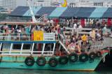 Tourists disembark at Pattaya