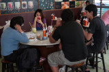 Students in a Banglamphu cafe