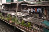 Ramshackle homes beside the khlong