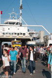 Disembarking from the Canakkale car ferry