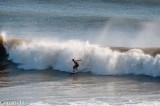 Surfing off Alexandra Headland