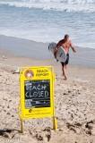 Beach closed, Mooloolaba