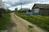 Dirt roads of a village a couple hours out of Moscow