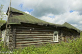 Log cabin in a Russian villages
