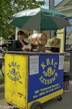 Selling kvass (a malt drink) in a country town