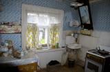 Interior of a true village Izba, or cottage