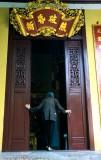 .  A Buddhist worshipper at Quan Su Pagoda
