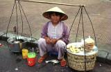 Saigon street vendor, Vietnam