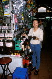 Coffee bean vendor at Ben Thanh Market