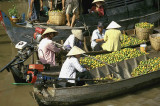 Floating market at Cai Rang