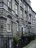 Row houses in Drummond Place, New Town