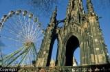 Ferris Wheel beside the Scott Memorial