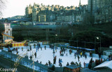 Ice skating in the Princes Street Gardens