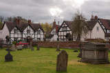 Tudor houses at Ombersley, north of Worcester