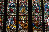 Leadlight window at St Mary's Church, Shrewsbury
