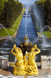 Fountains at the Peterhof or Petrodvorets