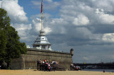 Sunbathing at Peter and Paul's Fortress on the bank of the Neva