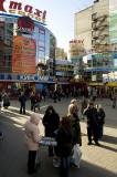Shopping plaza outside Primorskaya Metro station, Vasilevsky Island