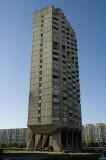 Suburban apartment tower at Nalychnaya